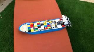 Lego rc cargo ship