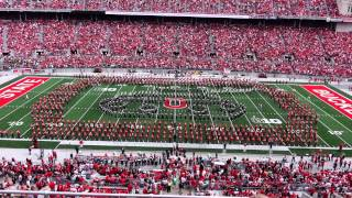 Ohio State Marching Band TBDBITL Halftime D-Day and Quad Script Ohio 9 13 2014Band