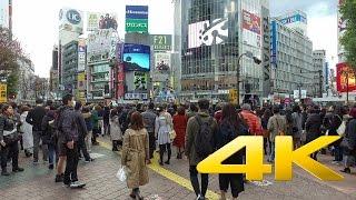 Walking around Shibuya - Tokyo - 渋谷を歩く- 4K Ultra HD