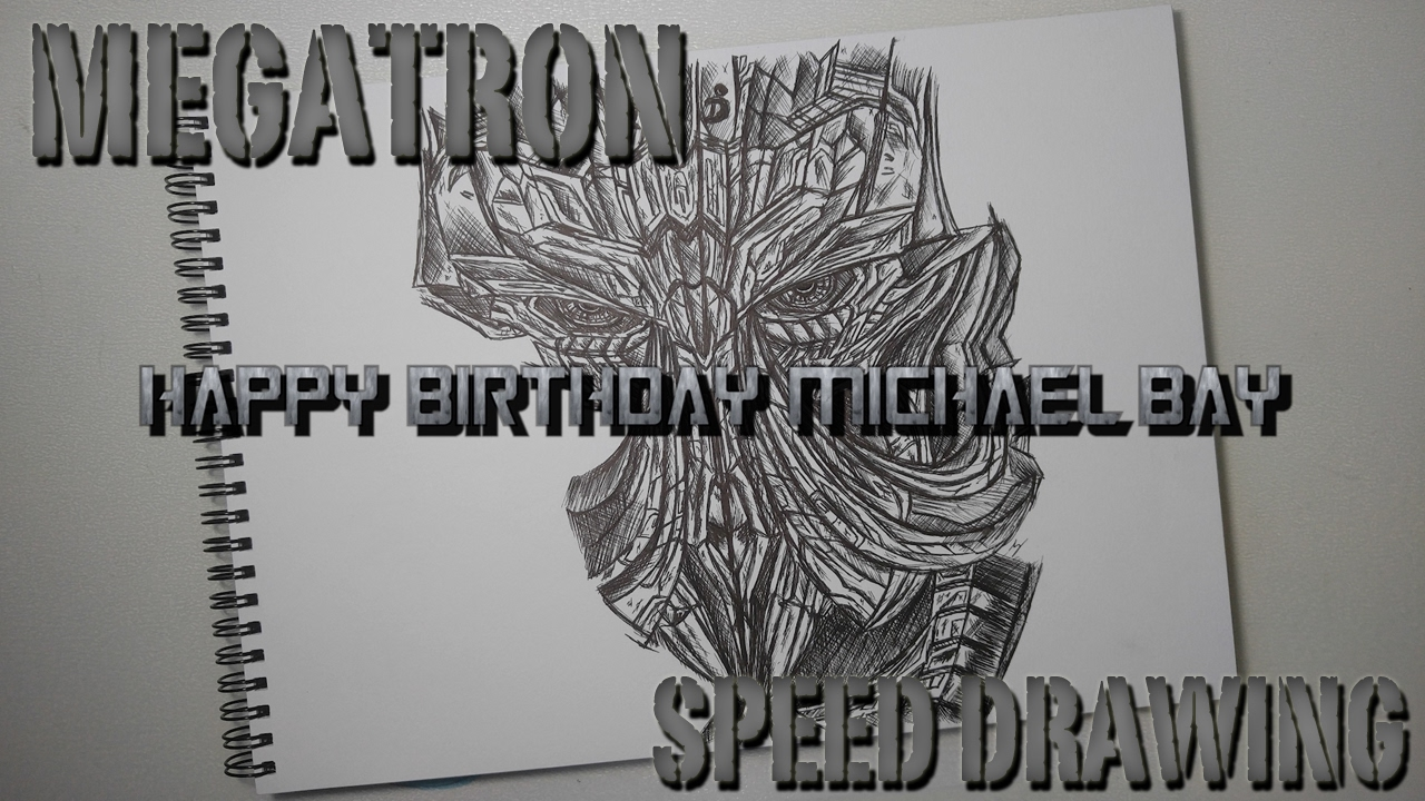 speed drawing megatron transformers 5 youtube