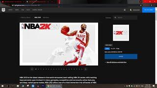 NBA 2K21 Epic Games Store FREE DOWNLAOD