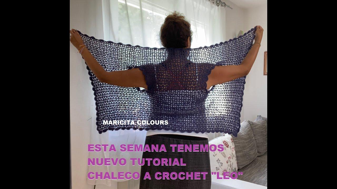 "Esta  semana tendremos nuevo Tutorial CHALECO A CROCHET ""LEO"" por Maricita Colours"
