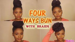 Video 4 WAYS HAIR BUN STYLES with senegalese/rope twists braids | Kemiixo download MP3, 3GP, MP4, WEBM, AVI, FLV Juli 2018