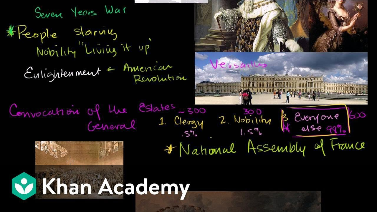 french revolution part video khan academy