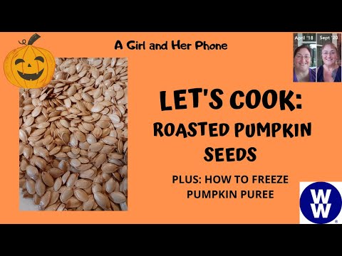 ROASTED PUMPKIN SEEDS & HOW TO FREEZE PUMPKIN PUREE | WEIGHT WATCHERS | JOURNEY TO LOSE 200 POUNDS