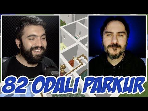 DAYIMIZLA 82 ODALI PARKUR !!! (Çift Facecam Minecraft)