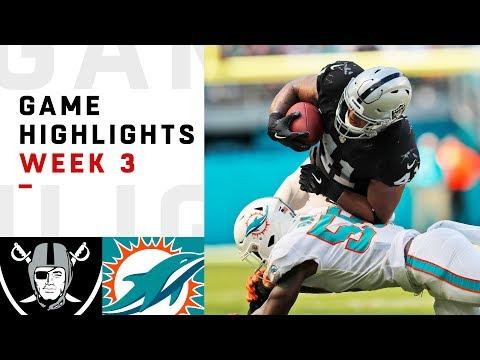 Raiders vs. Dolphins Week 3 Highlights   NFL 2018