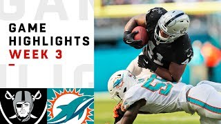 Raiders vs. Dolphins Week 3 Highlights | NFL 2018