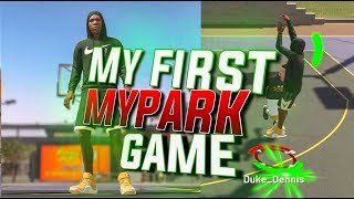 DUKE DENNIS FIRST MYPARK GAME OF NBA 2K19! SO FUNNY MUST WATCH! NBA 2K19 STRETCH BIG BUILD