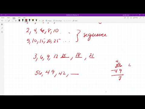 M65 Counting Sequences And Identifying Digits