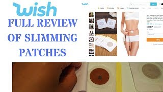 Wish.com - Weight Loss Slimming Patches - 1 Month Review
