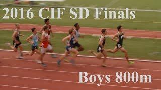 2016 SD CIF Finals Boys 800M