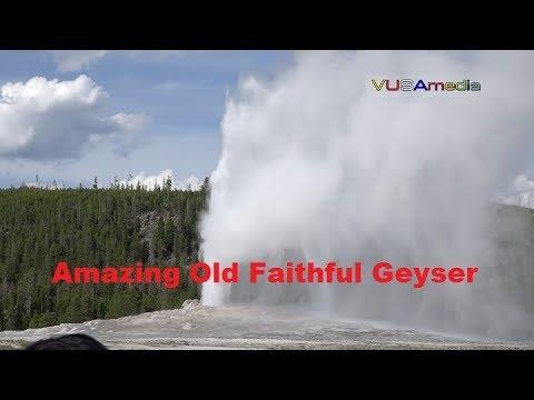 Suối phun nước nóng Old Faithful ở Yellowstone - Amazing Old Faithful Geyser
