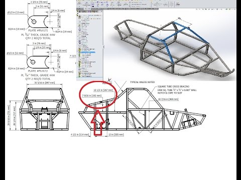 BadLandBuggy ST4 Plans/Drawings - PT 3. Tubular Frame / SW ...