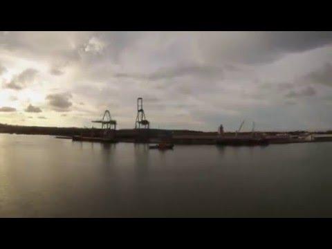 Bandar Seri Begawan, Brunei - Legend of the Seas Departs Brunei Time Lapse HD (2015)