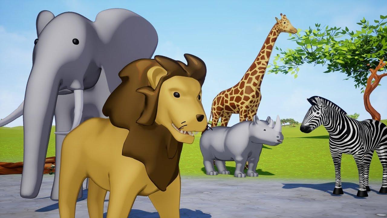 Wild animals name and sound