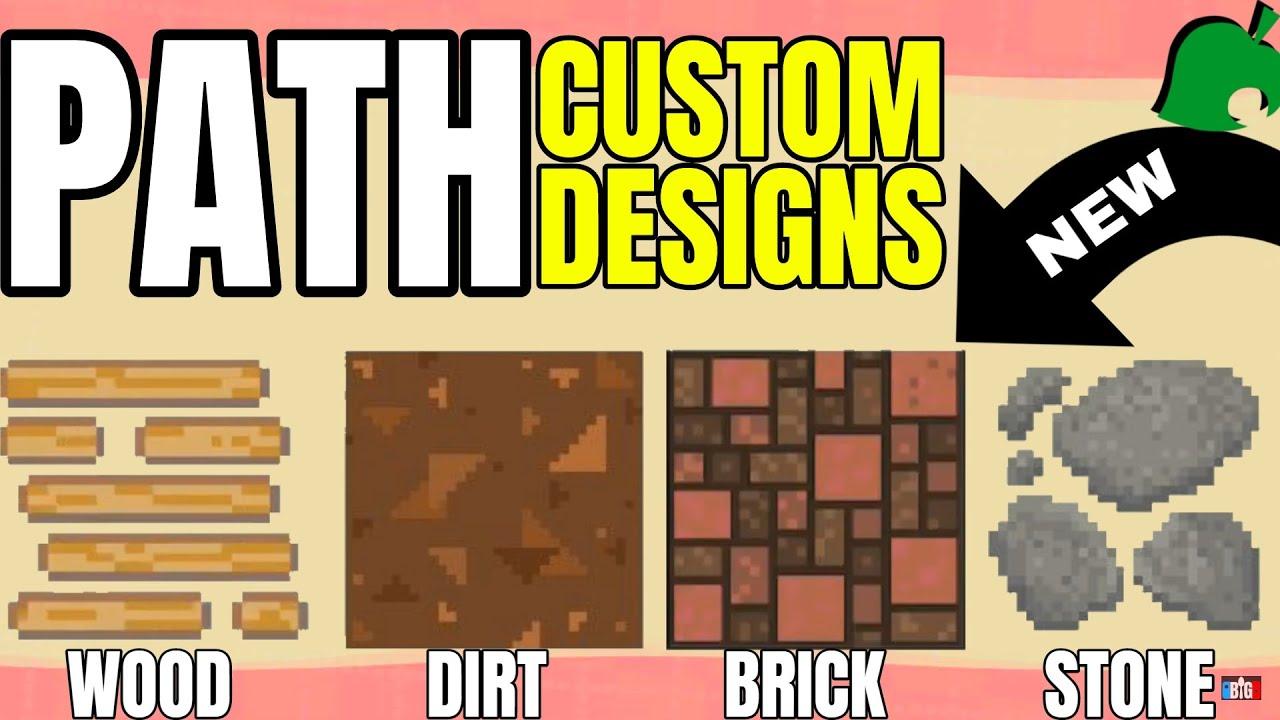 Custom Path Design Codes   Animal Crossing New Horizons ... on Animal Crossing New Horizons Wood Design  id=27716