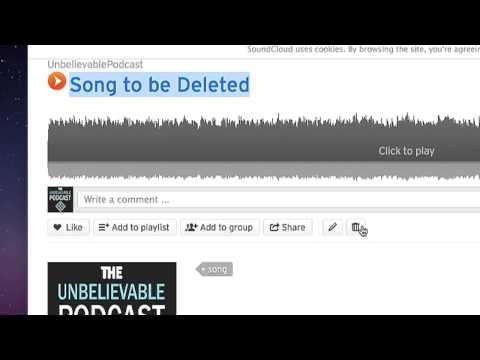 How to Delete Files on SoundCloud : Computer & Tech Topics