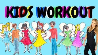 KIDS EXERCISE VIDEO - fun workout for  3 to 9 year olds - toddlers exercises