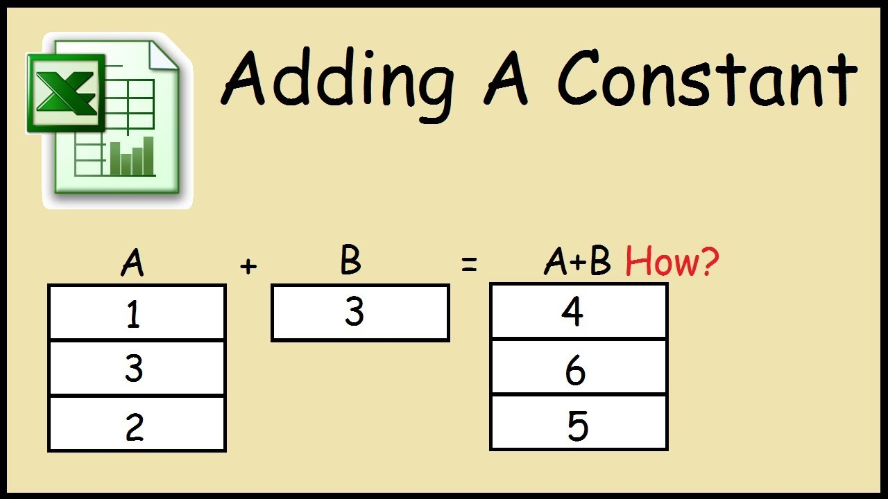 How to add a constant value to a column in Excel