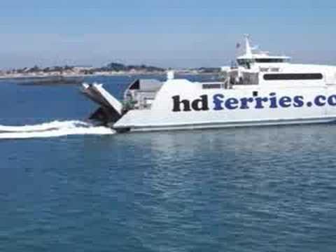 HD Ferries HD1 ferry leaving Guernsey