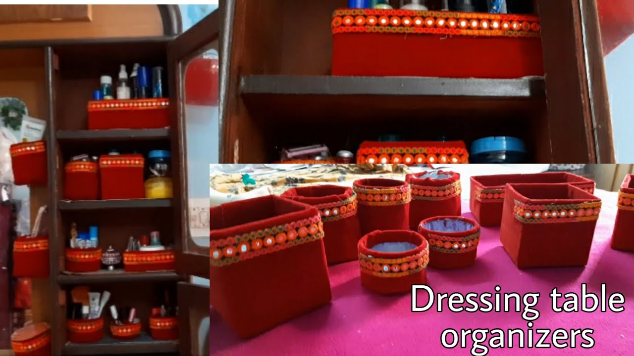 My dressing table tour and organization| how to organize dressing table| dressing table organizer