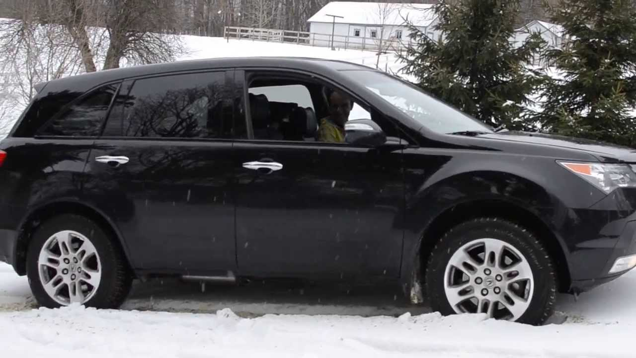 Acura MDX Stuck In Snow YouTube - Acura mdx tires