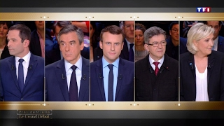 French candidates slug it out over economy