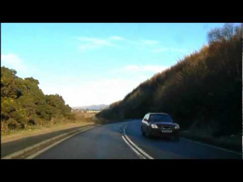 Driving from Oban to Connel on the A85.  Music by Vatersay boys Ciosmul Galley
