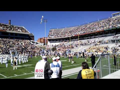 Georgia Tech Players Entering the Field at Bobby Dodd Stadium