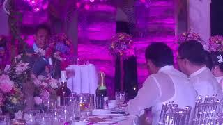 Choy's speech on James Wedding