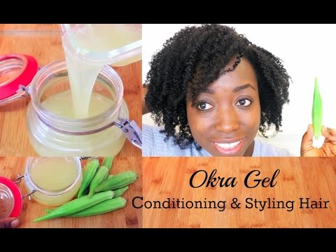 How To Make Okra Gel For Hair Growth Conditioning Detangling Styling DIY Hair Gel For All Hair Type