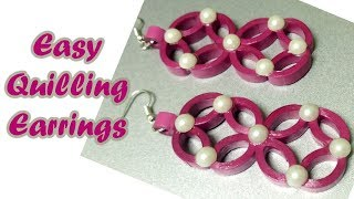 Easy DIY Quilling Earrings| BeCre8ive