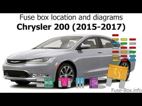 Fuse Box Location And Diagrams Chrysler 200 2015 2017 Youtube