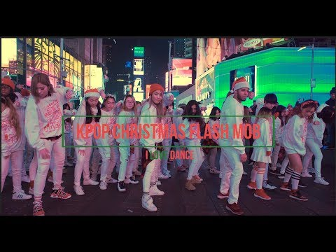 [KPOP IN PUBLIC CHALLENGE NYC] XMAS FLASH MOB by I LOVE DANCE I KPOP MIX