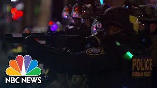 Protesters Clash With Federal Agents In Portland On 60th Night Of Demonstrations | NBC Nightly News