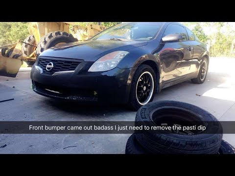 Project Altima  Part 2 - Fog Lights, Dash Cover, And Modifying The Front Bumper