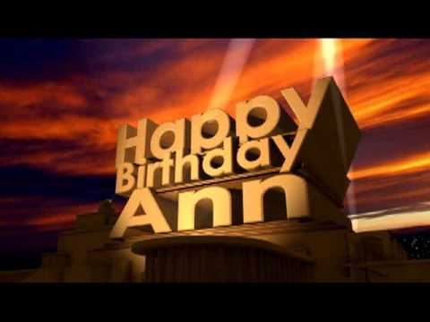 Happy Birthday Ann
