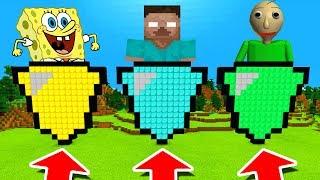 Minecraft PE : DO NOT CHOOSE THE WRONG SHIELD! (Spongebob, Herobrine & Baldi's Basics)