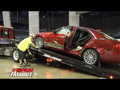 J&J Security's destroyed Cadillac is towed out of the arena: Raw ...