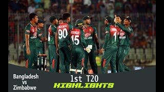 Highlights | Bangladesh vs Zimbabwe | 1st T20 | Bangladesh Tri-Series 2019