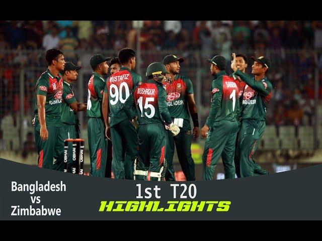 Highlights   Bangladesh vs Zimbabwe   1st T20   Bangladesh Tri-Series 2019