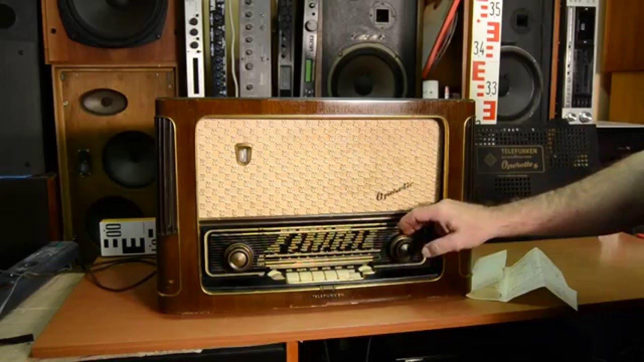 Telefunken Operette 6 Röhren Radio Vacuum Tube Radio