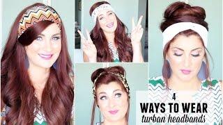4 ways to wear turban headbands
