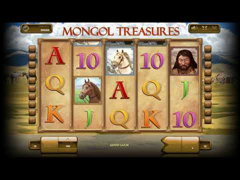 Mongol Treasures online nomad themed slot game - 동영상