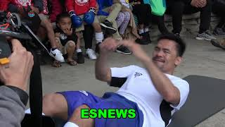 Manny Pacquiao In Camp For Thurman EsNews Boxing