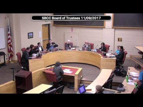 SBCC Board of Trustees 11/09/2017
