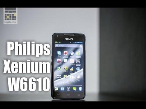 Philips Xenium W6610 - обзор смартфона от keddr.com