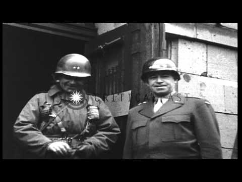 United States Army Generals including General Dwight Eisenhower and General Omar ...HD Stock Footage