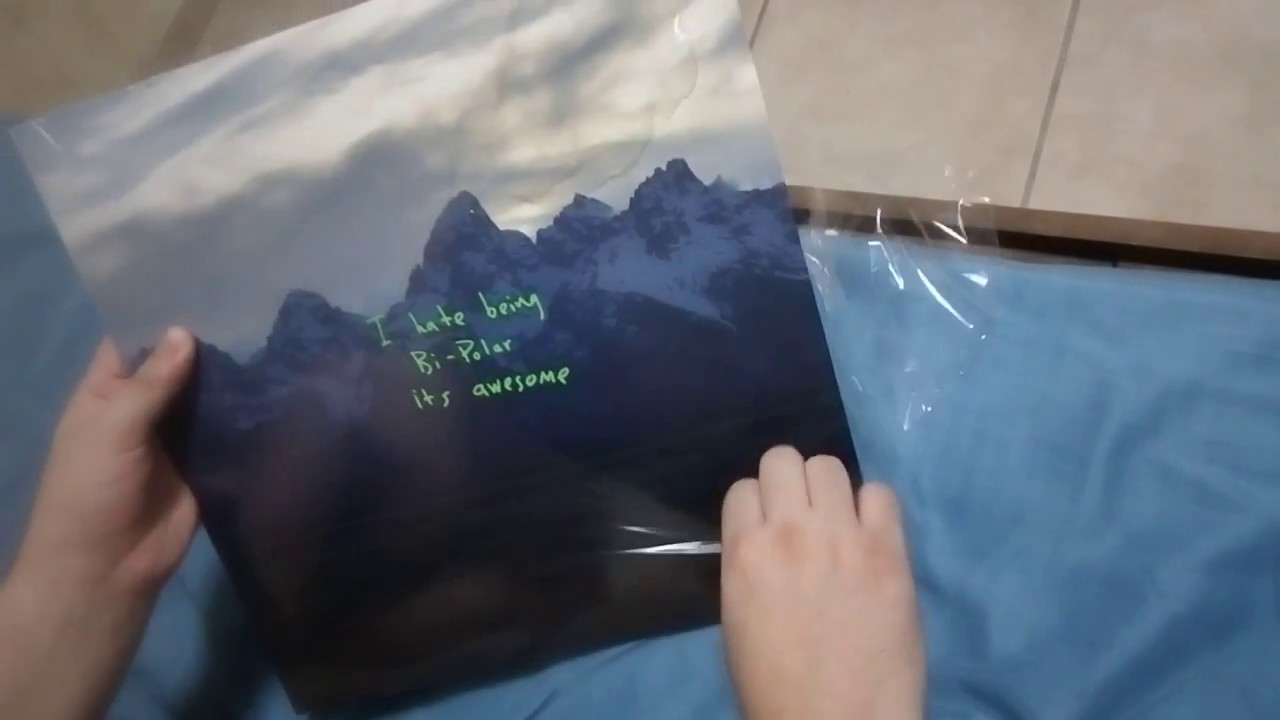 4fbfbca6097a Kanye West ye vinyl unboxing - YouTube